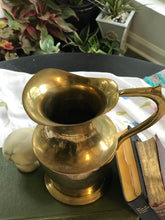 Load image into Gallery viewer, Brass Flower Pitcher
