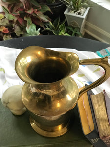 Brass Flower Pitcher