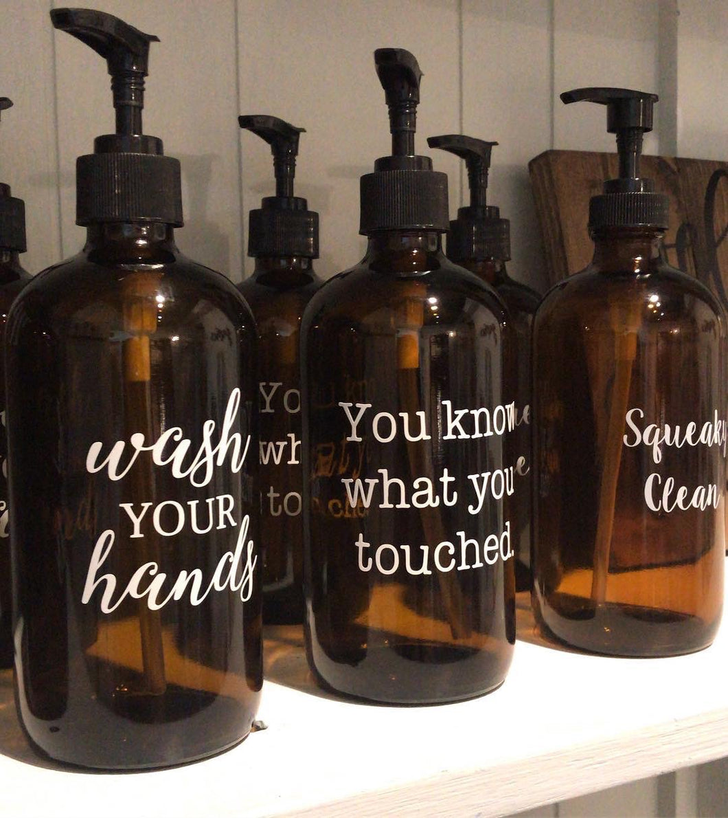 Amber Soap Dispenser