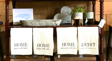 Home Tea Towel - Several Local Towns To Choose From