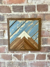 Load image into Gallery viewer, Mini Reclaimed Wood Mountain - Framed