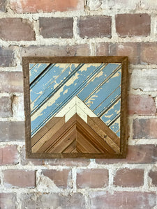 Mini Reclaimed Wood Mountain - Framed