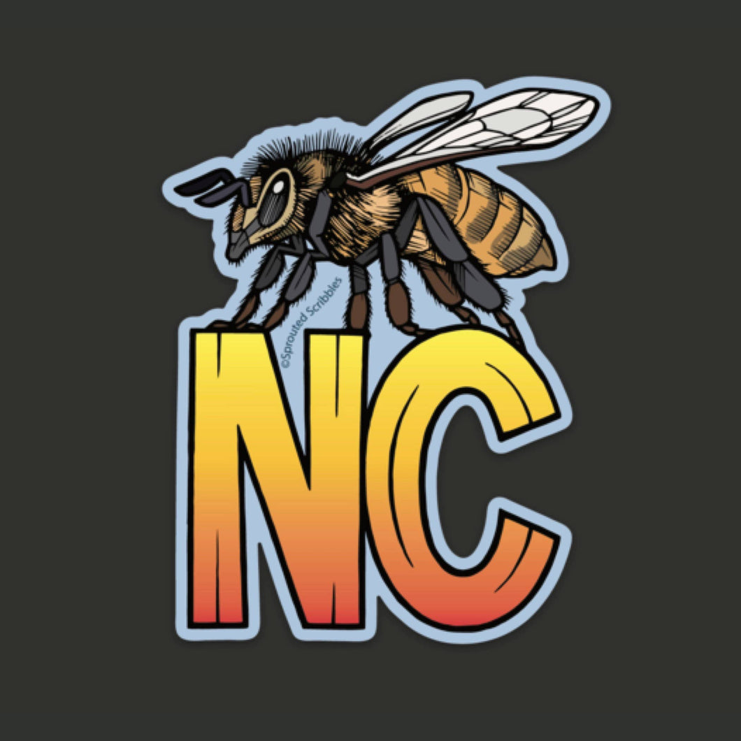 NC Honeybee Sticker