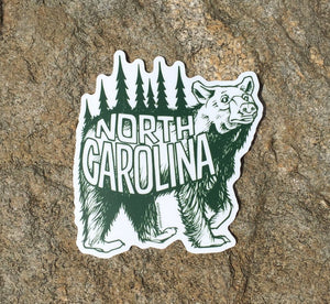 NC Bear Sticker