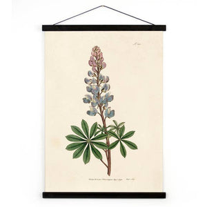"Botanical Bluebonnet Canvas Wall Hanging - 18"" x 24"""