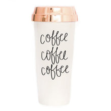 Load image into Gallery viewer, Coffee Coffee Coffee Travel Mug