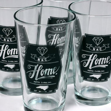 NC Diamond Pint Glass