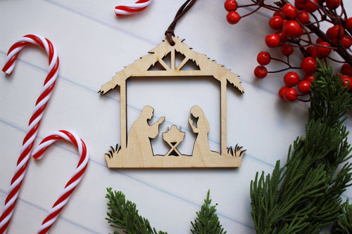 Manger Ornament