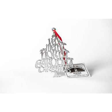 Very Merry NC Christmas - Pewter Ornament