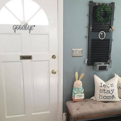 Goodbye - Vinyl Door Decal