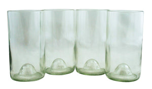 Recycled Wine Bottle Tumblers - Set of 4