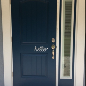 Hello - Vinyl Door Decal