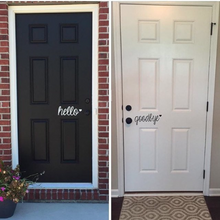 Load image into Gallery viewer, Hello - Vinyl Door Decal