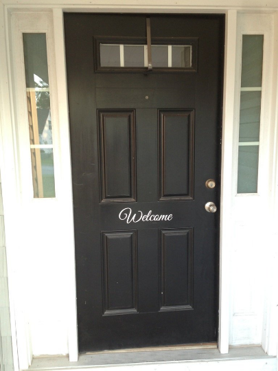Welcome - Vinyl Door Decal