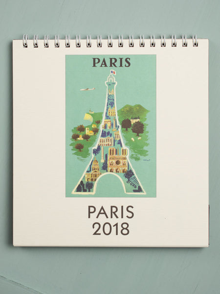 2018 Paris Desk Calendar