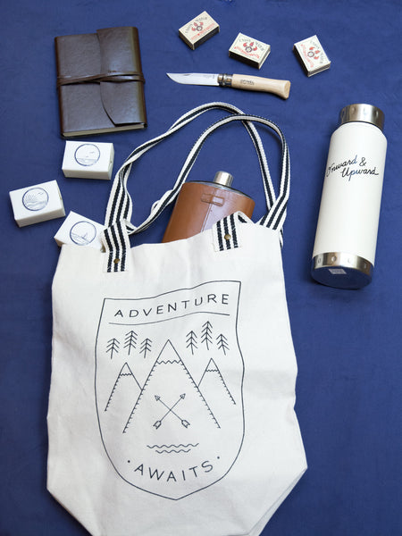 Adventure Awaits Canvas Tote