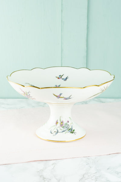Antique French Floral Compote