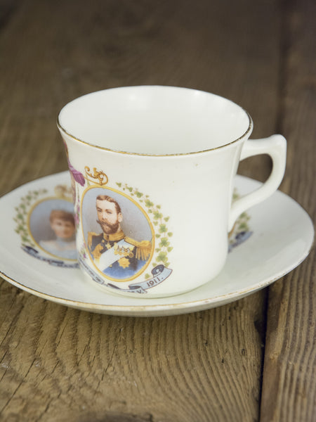 Antique George V And Queen Mary Coronation Cup And Saucer