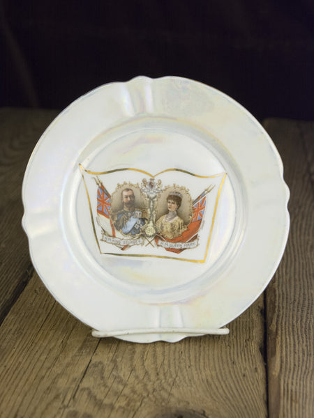Antique Lusterware Coronation 1911 Plate