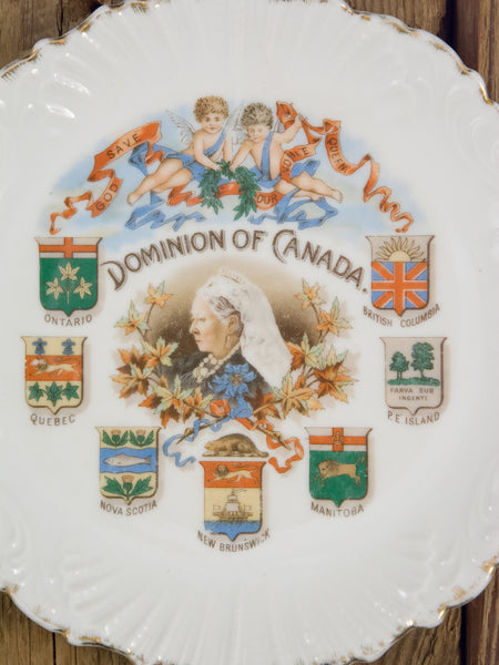 Antique Queen Victoria Dominion of Canada Plate