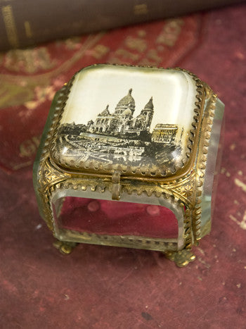 Antique Sacré Cœur Jewelry Box