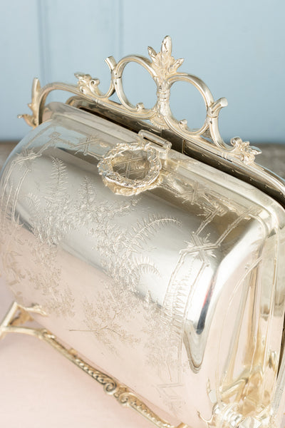 Antique Silverplate Biscuit Warmer