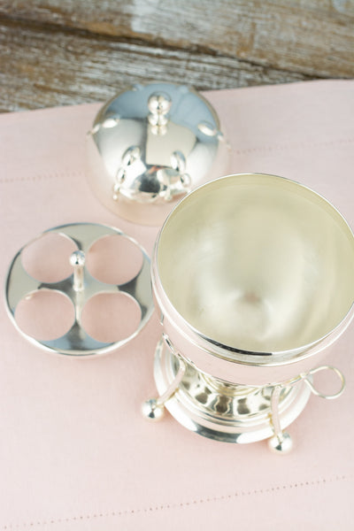 Antique Silverplate Egg Coddler