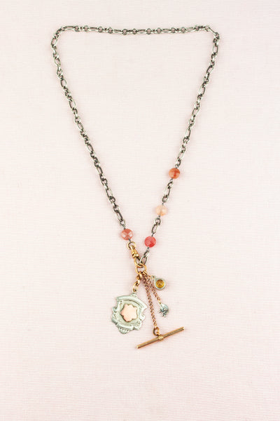 Antique Sterling Pendant &  Charm Necklace