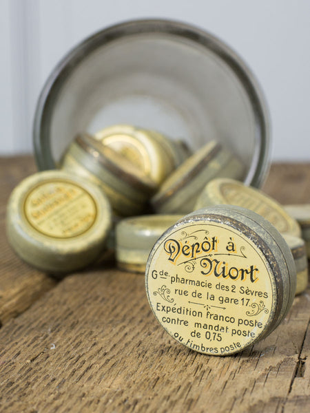 Antique French Crème Cervolet Tin