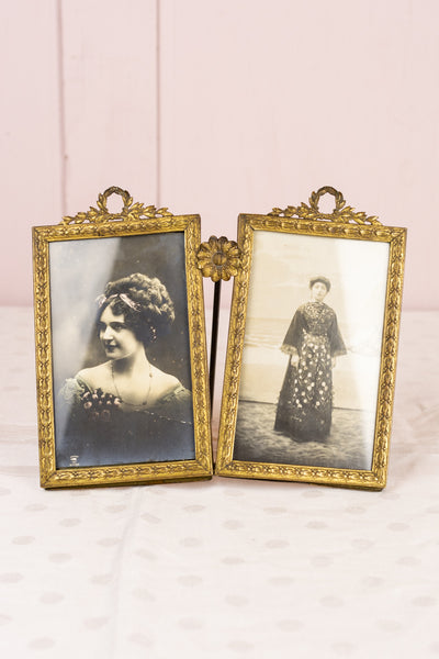 Antique French Belle Époque Double Picture Frame