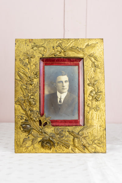 Antique Gilded Garden Picture Frame