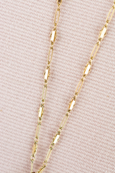 Antique Gold Slide Necklace