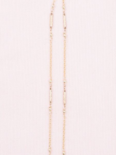 Antique Gold Watch Fob Chain with Pearls Necklace
