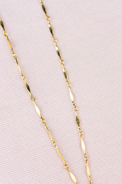 Vintage Gold-Plated Pencil Necklace