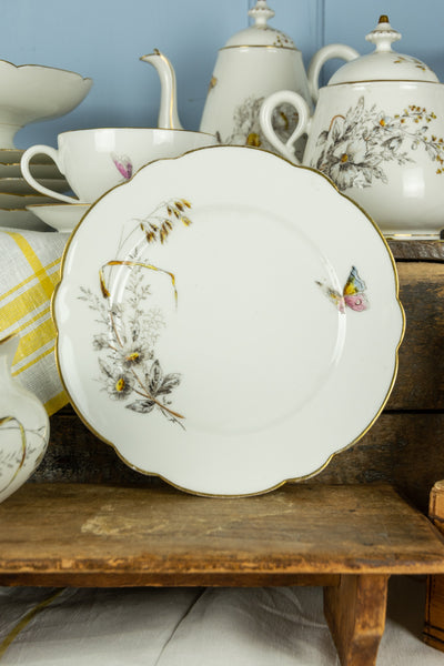 Antique French 'Jardin Sauvage' Breakfast Set - Service for 6