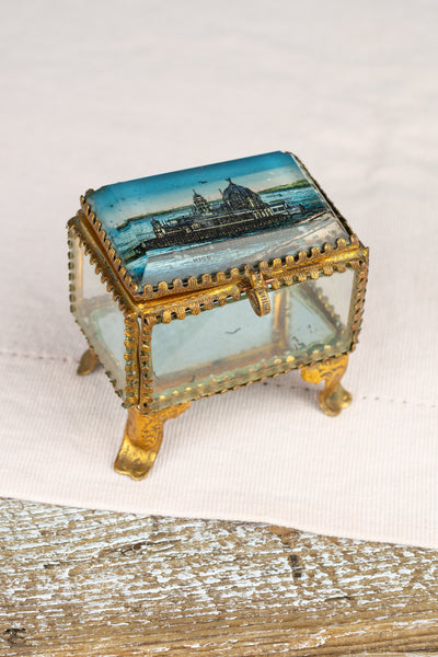 Antique Belle Epoque Souvenir Jewelry Box - Nice
