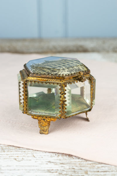Antique Belle Epoque Souvenir Jewelry Box - Paris Opera House