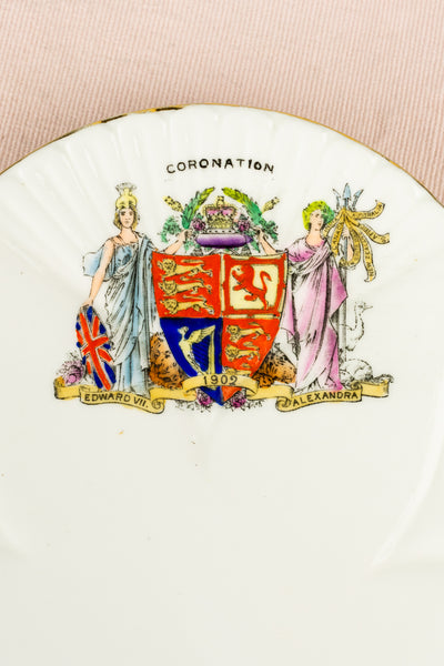 Antique King Edward VII and Queen Alexandra 1902 Coronation Plate