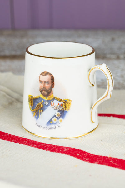 Antique King George V and Queen Mary Coronation Mug