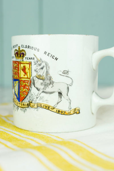 Antique Queen Victoria Diamond Jubilee Mug