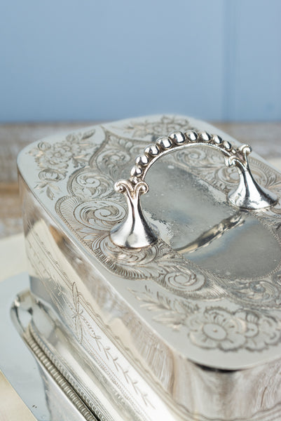 Victorian Silverplate Cheese Keeper