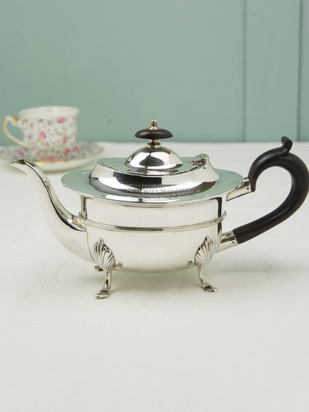 Antique Silverplate Commemorative Teapot