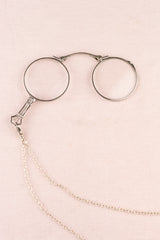 Antique Silver Lorgnette Necklace