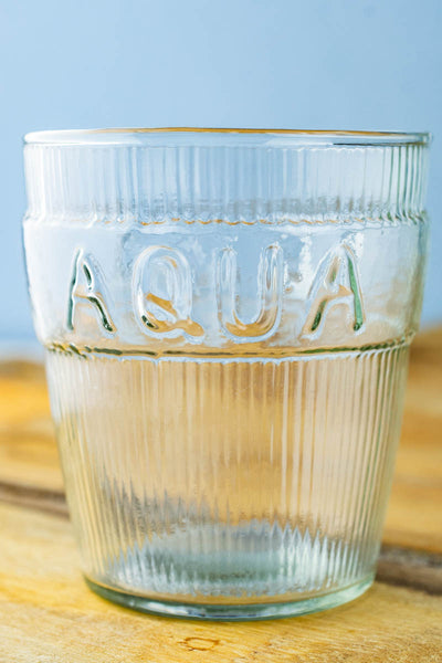 Aqua Stacking Water Glasses - Set of 4