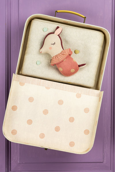 Bambi Bambino Suitcase with Blanket and Rattle