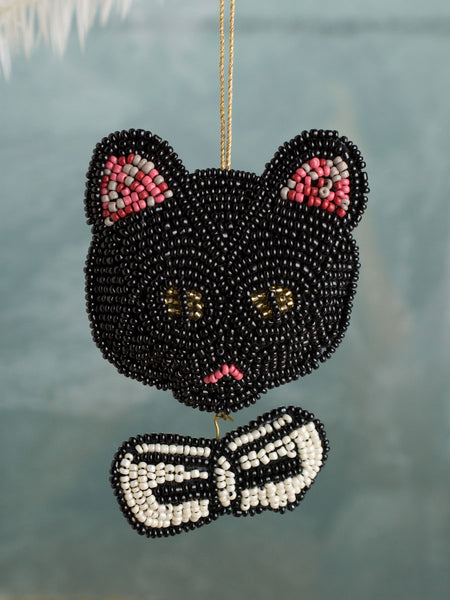 Beaded Dandy Cat Ornament