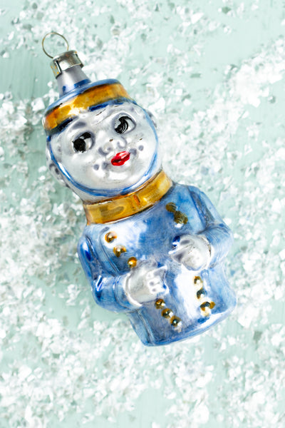 German Glass Bellhop Ornament
