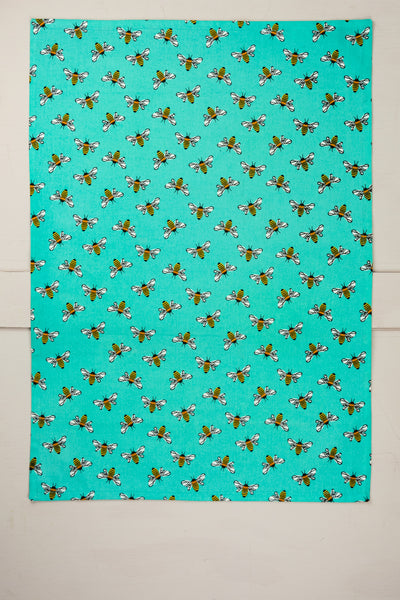 Blue Bee Towel