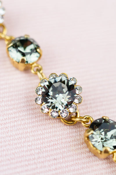 "Round Cut ""Black Diamond"" Crystal Bracelet"