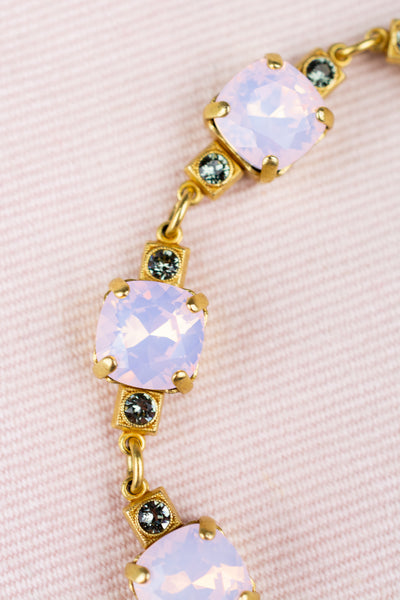 Cushion Cut Rosewater Crystal Bracelet
